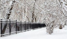 Śnieżny ogrodzenie Zdjęcie Royalty Free