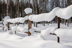 Śnieżny ogrodzenie Obrazy Royalty Free