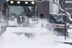 Śnieżny oranie Zdjęcia Stock