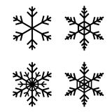 Śnieżny płatka wektor royalty ilustracja