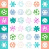 Śnieżny płatka wzoru wektor Zdjęcie Stock