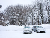 Śnieżny parking samochodowy Obrazy Stock