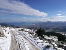 Śnieżny pochodzi Zdjęcie Royalty Free