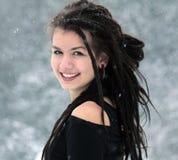 Śnieżny portret Zdjęcia Stock