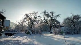Śnieżny słoneczny dzień Zdjęcie Royalty Free