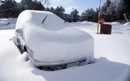Śnieżny samochód obrazy royalty free
