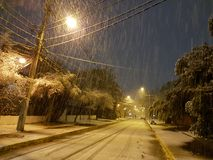 Śnieżny Santiago Obraz Royalty Free