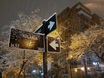 Śnieżny Santiago Fotografia Royalty Free