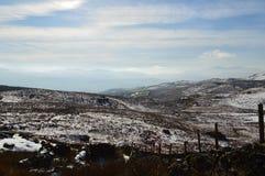 Śnieżny sceneria krajobraz Fotografia Royalty Free