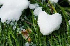 Śnieżny serce Fotografia Stock
