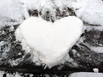 Śnieżny serce Obrazy Royalty Free