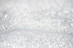 Śnieżny tła bokeh - płytka ostrość, przestrzeń dla teksta Fotografia Royalty Free