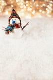 śnieżny tło bałwan Obrazy Stock