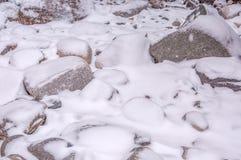 Śnieżny tło, granit Zdjęcie Royalty Free