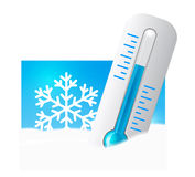 śnieżny termometr Zdjęcie Stock