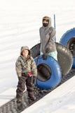 śnieżny tubing Obraz Royalty Free