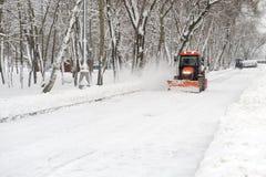 śnieżny usunięcie ciągnik Zdjęcia Royalty Free