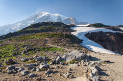 Śnieżny wulkan Zdjęcia Stock