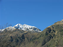 Śnieżny wysoka góra szczyt Obrazy Stock