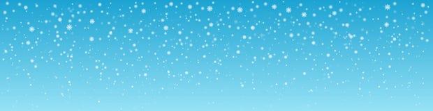 Śnieżny zima dnia tło panorama Zdjęcia Stock