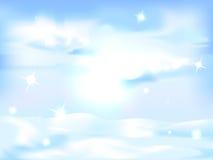 Śnieżny zima krajobrazu tło - horyzontalny Obrazy Stock