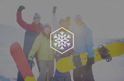 Śnieżny zima płatka śniegu miecielicy bożych narodzeń pojęcie obrazy royalty free