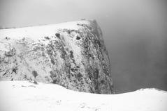 Śnieżyca w górach zdjęcia stock