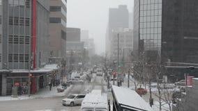 Śnieżyca w mieście zdjęcie wideo