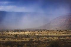 Śnieżyca Zbliża się Verde dolinę Fotografia Stock