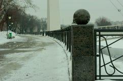 Śnieżysty bulwar Kharkiv zdjęcie royalty free