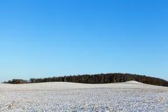 Śnieżysty pole, zima Zdjęcia Royalty Free