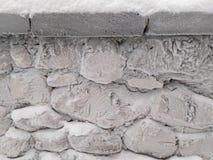 Śnieg ściana Zdjęcie Stock