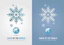 Śnieg świat Eco ewidencyjna graficzna ikona Kreatywnie marketing Obrazy Stock