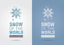 Śnieg świat Eco ewidencyjna graficzna ikona Kreatywnie marketing Zdjęcie Royalty Free