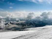 śnieg Chmury i słońce Zdjęcie Royalty Free