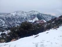 Śnieg, góra, panorama obrazy royalty free