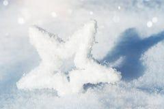 Śnieg gwiazda w śniegu fotografia royalty free