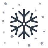 Śnieg gwiazdowa ikona ilustracji