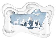 Śnieg i zima sezon z naturą kształtujemy teren tło royalty ilustracja