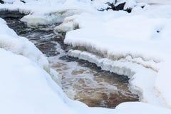 śnieg na lodzie Zdjęcia Royalty Free
