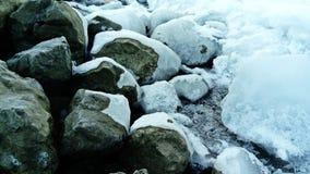 Śnieg na skałach Zdjęcie Stock