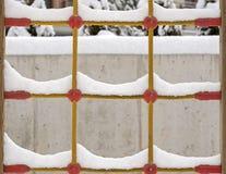 Śnieg na wspinaczki sieci arkanie zdjęcie royalty free