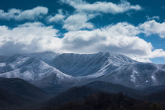 Śnieg Odkurzający Great Smoky Mountains, Gatlinburg -, Tennessee fotografia stock
