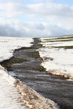 Śnieg odwilż. Strumieni przepływy. Fotografia Stock