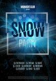 Śnieg Partyjna ulotka Abstrakcjonistyczny zima plakata tło również zwrócić corel ilustracji wektora Zdjęcia Stock