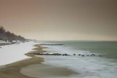 Śnieg plaża Zdjęcia Stock