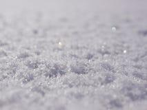 Śnieg powierzchnia Fotografia Stock