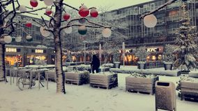 Śnieg przy holandiami obrazy royalty free