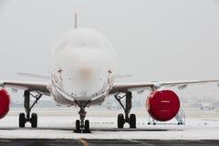 Śnieg przy lotniskiem obraz royalty free