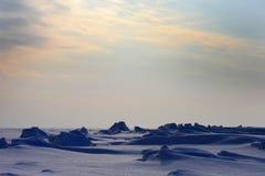 Śnieg pustynia Obrazy Royalty Free
